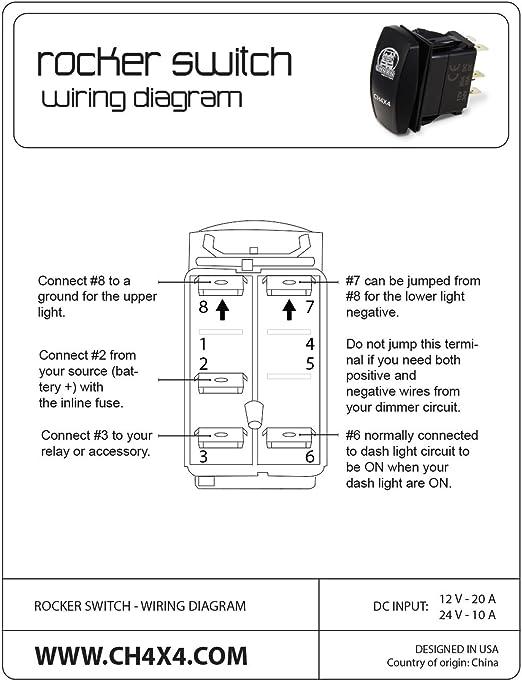 [DVZP_7254]   Amazon.com : CH4X4 Rocker Switch Train Horn Symbol - Amber Led : Sports &  Outdoors | Horn Switch Wiring Diagram |  | Amazon.com