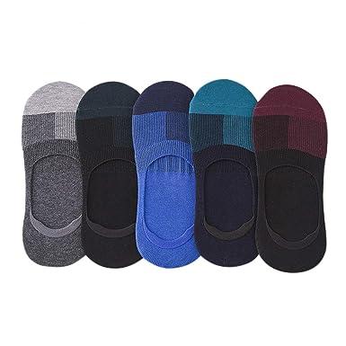 5pairs Men Boat Socks Sheer Calcetines Tobilleros Man Cotton Socks,5Colors