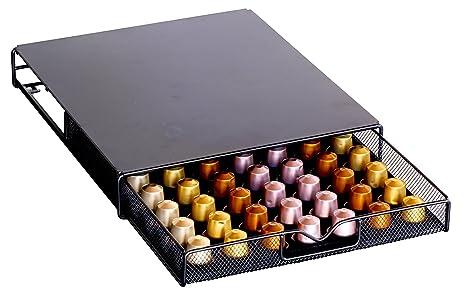 Attrayant DecoBros Coffee Pod Storage Mesh Nespresso Drawer Holder For 56 Capsules,  Black