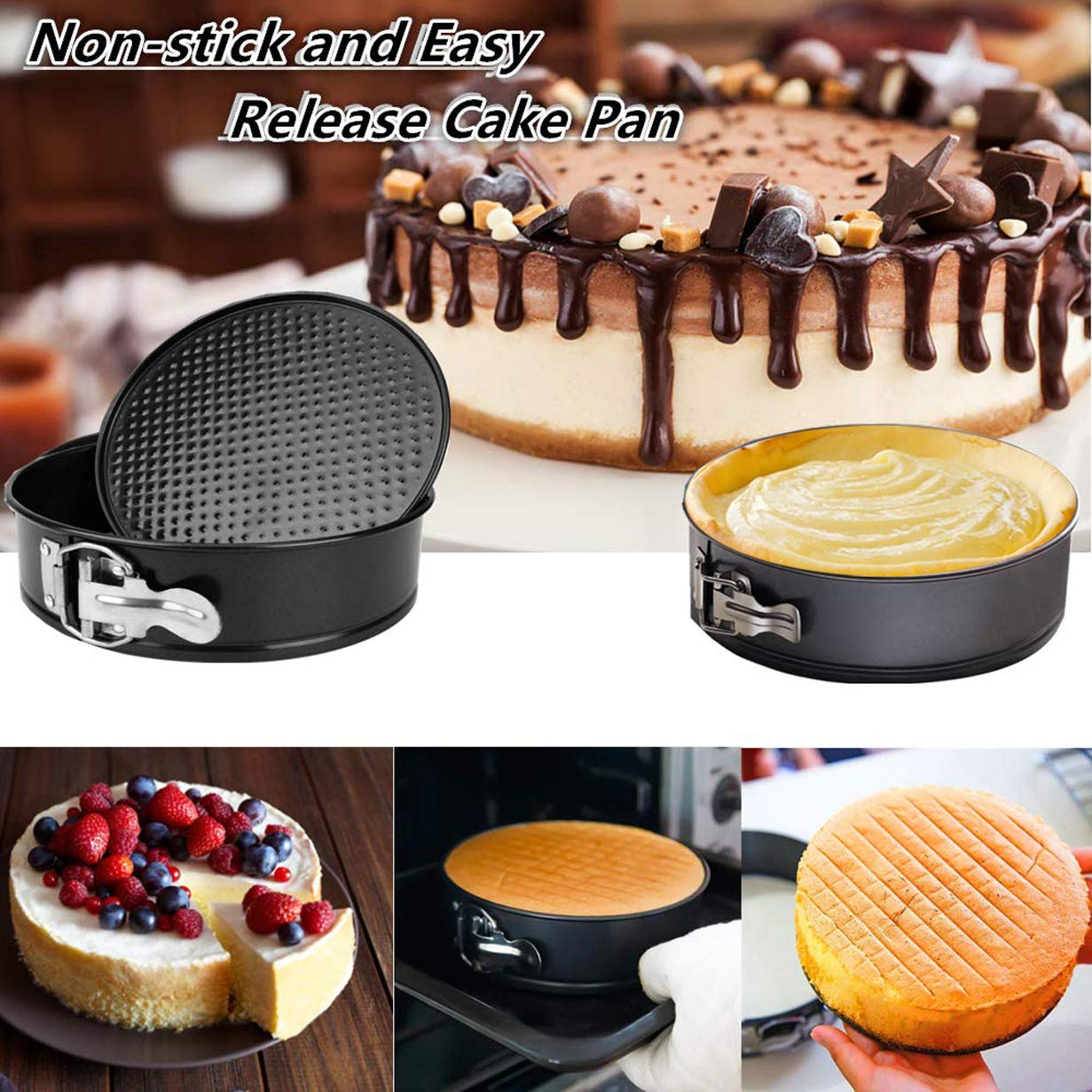 AMEON Accessories for Instant Pot 6, 8 Quart - Steamer Basket, Egg Rack, Springform Pan, Egg Bites Mold, Egg Beater, Pot Mitts, Silicone Mat and Food Tong for Insta Pot, Pressure Cooker, Rice Cooker by AMEON (Image #4)
