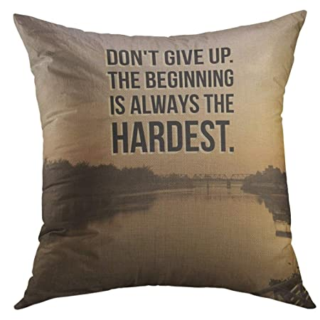 Mugod Pillow Case Positive Inspirational Motivational Quote Do Not
