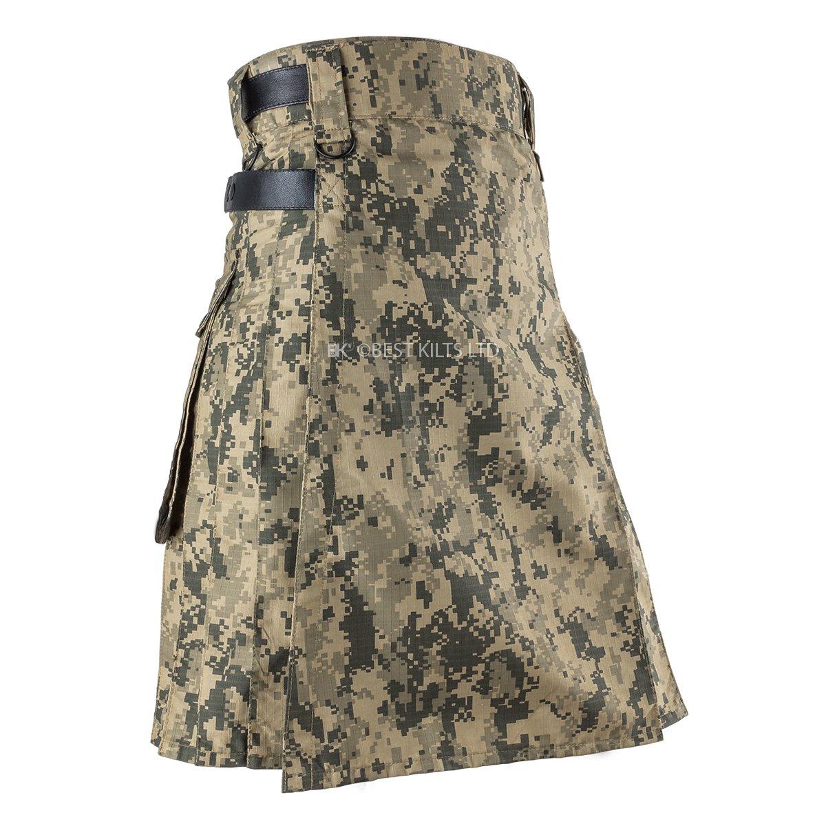 Best Kilts Men US ACU Camouflage Tactical Army Utility Kilt (42'' - 44'')
