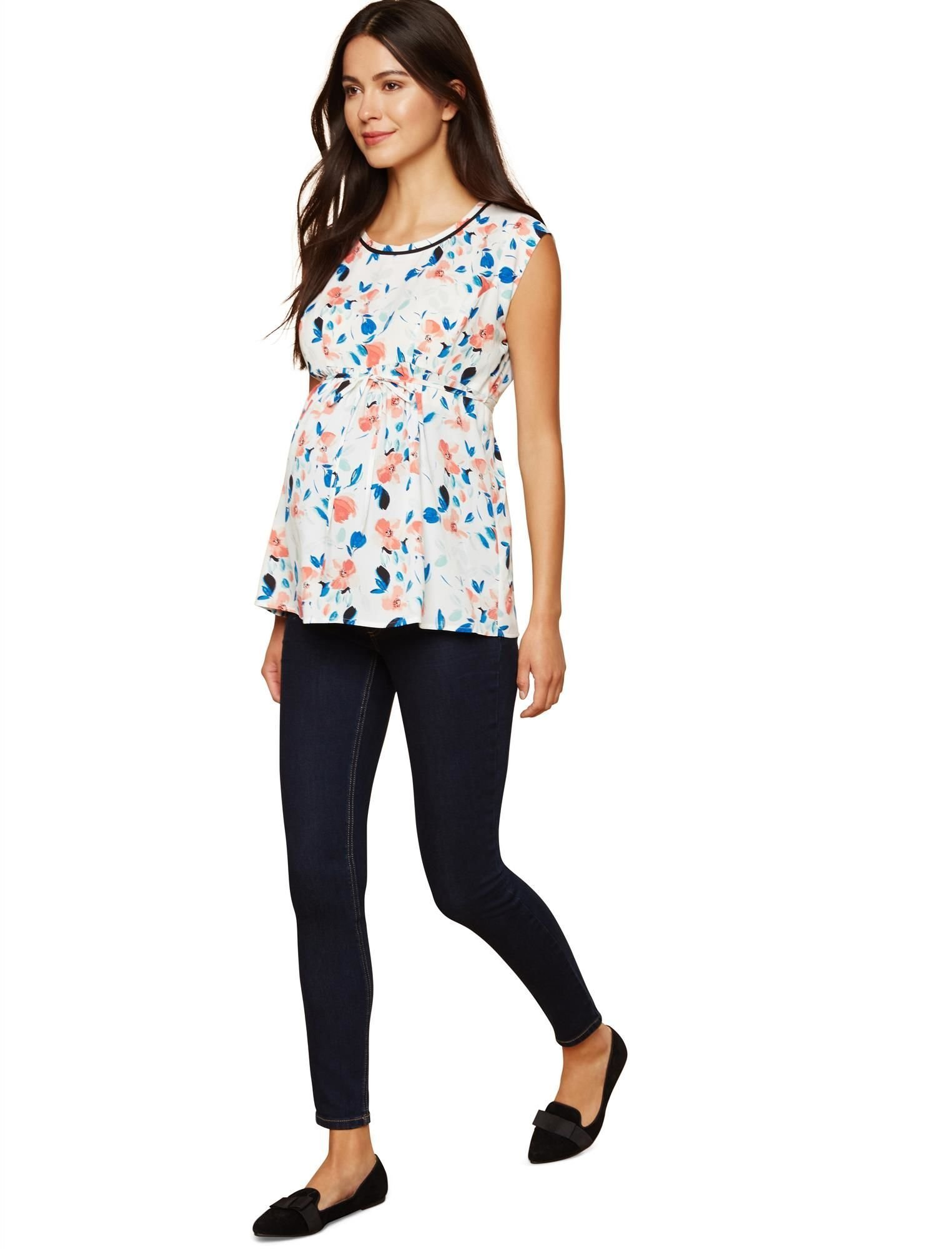 Motherhood Petite Secret Fit Belly Skinny Leg Maternity Jeans