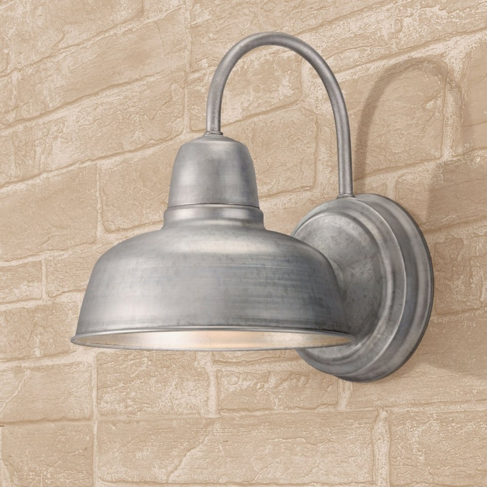 Urban barn 11 14 high galvanized indoor outdoor wall light barn urban barn 11 14 high galvanized indoor outdoor wall light barn light amazon aloadofball