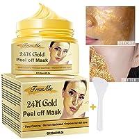 24k Gold Face Mask, Blackhead Remover Mask, Peel Off Blackhead Mask, Deep Cleansing...