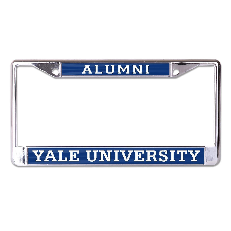 2-Tag Corners WinCraft NCAA Yale Bulldogs Alumni Inlaid Metal License Plate Frame