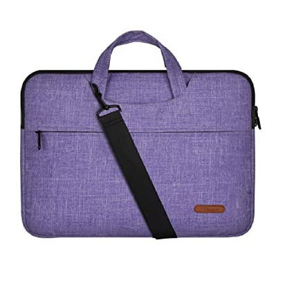 2bc6c7a7a695 15 Inch Laptop Sleeve Bag Purple Line with Handle and Shoulder Strap for  MacBook Air/Pro,Acer,Asus,Dell,Lenovo,HP,Samsung,Sony,Toshiba-Chromebook ...