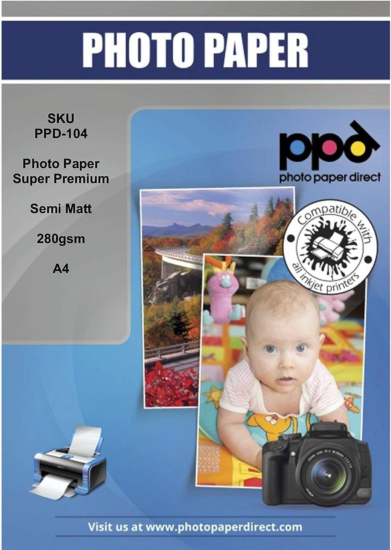 PPD PPD-104-50 - Papel fotográfico satinado para impresora de ...