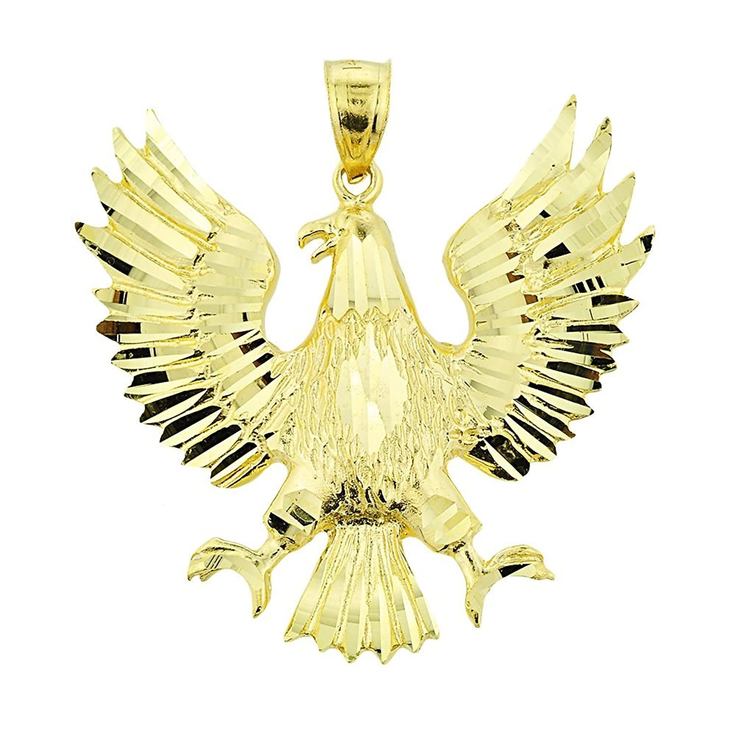 s in plated pendant dp amazon silver bald sterling men eagle necklace com gold