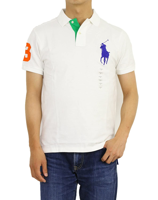 (ポロ ラルフローレン) POLO Ralph Lauren カスタムフィット メンズ ビッグポニー ポロシャツ CUSTOM FIT 0105550 [並行輸入品] B0759DCQRY US XL (日本3L相当) CLS OX WHITE CLS OX WHITE US XL (日本3L相当)