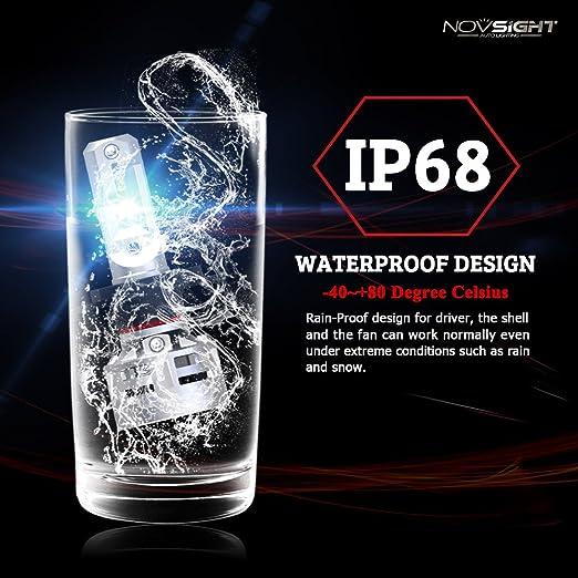 Amazon.com: Carrfan NOVSIGHT H4 H11 Car Led Headlights H16JP 60W 10000LM Driving Fog Led Lights Lamps Bulbs 6500K White: Automotive