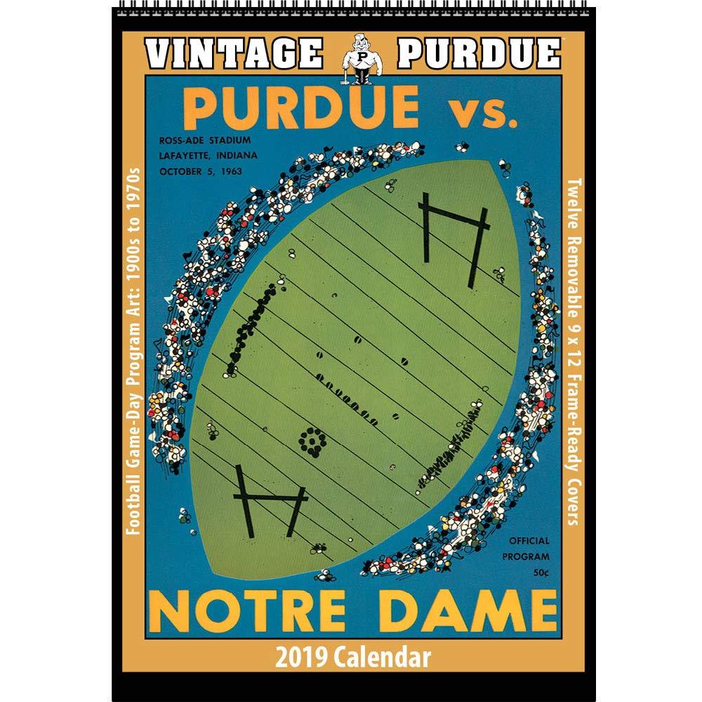 Purdue Calendar 2019 Amazon.: Vintage Purdue Boilermakers 2019 College Football