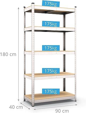 Estantería de cargas pesadas de 875 kg para taller, almacén o bodega de Panorama24