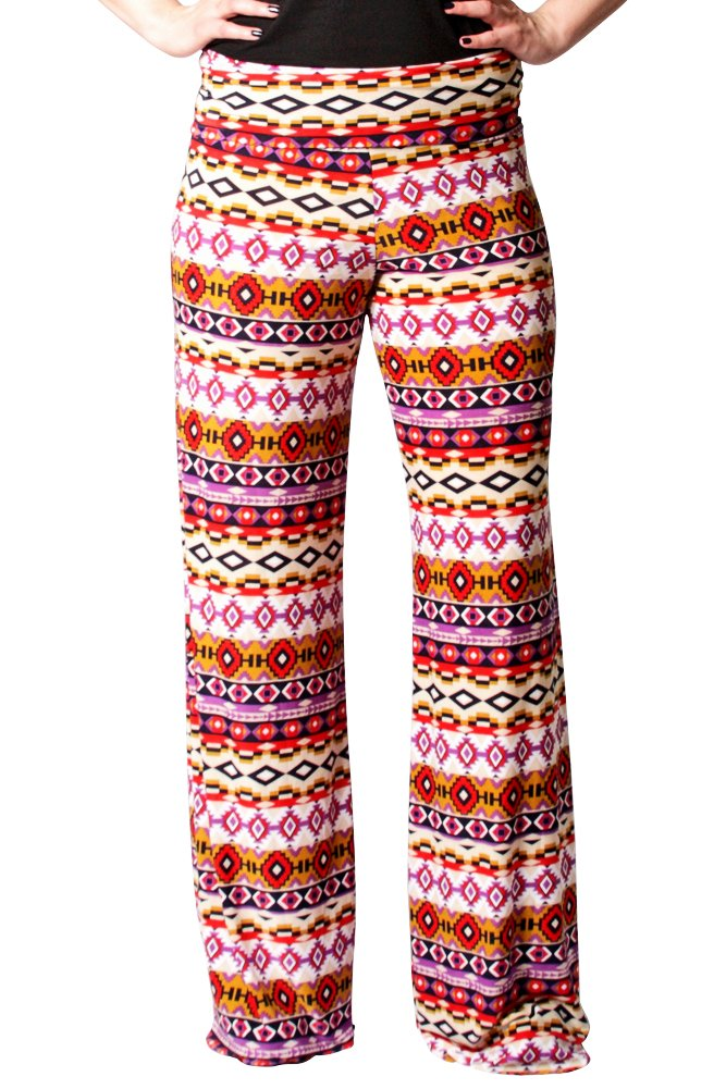 Women's Sexy Purple and Gold Wide Leg Pants Leggings - Wide-Leg Pants - Clothing