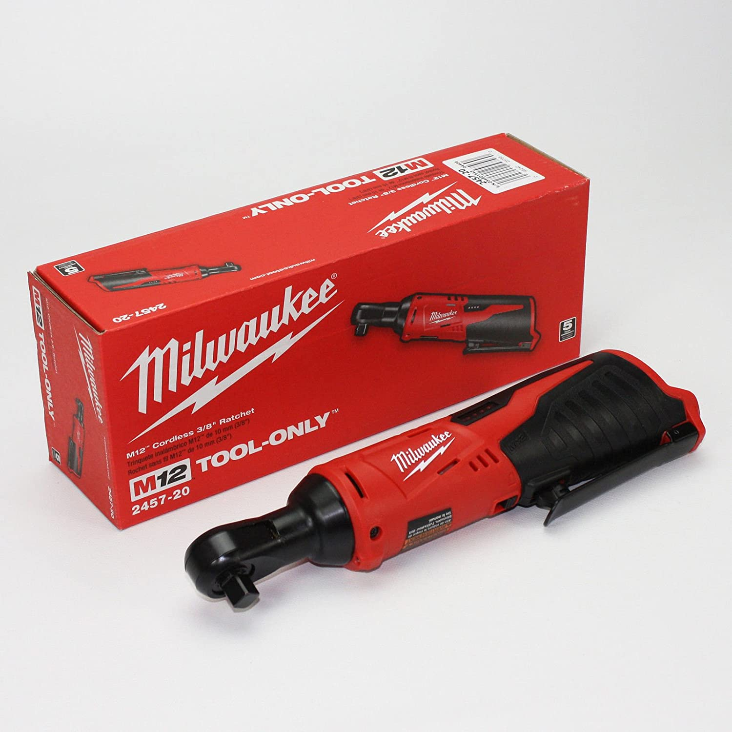 2457-20 Milwaukee M12 Cordless 3 8 Lithium-Ion Ratchet H4345 344Y584H351707