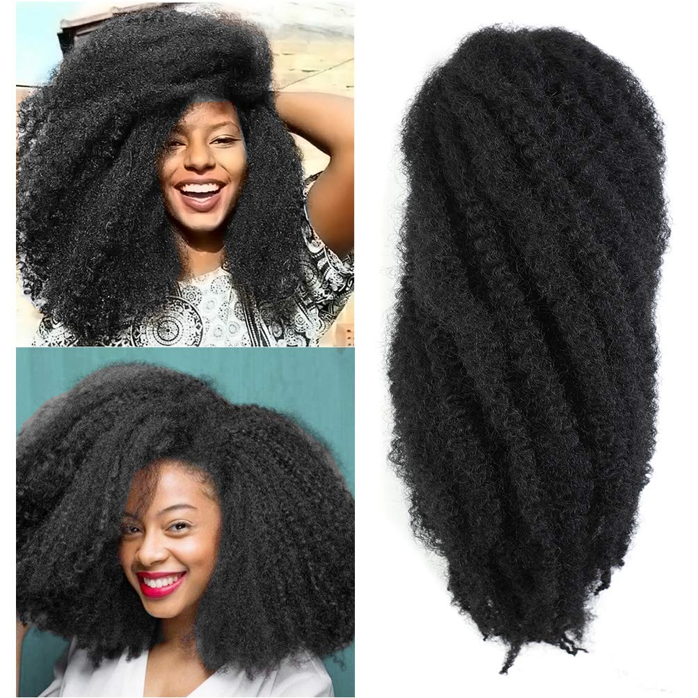 Marley Hair 24 inch for Twists Afro Kinky Marley Braiding Hair Ombre Extensions Synthetic Twist Crochet Braiding Hair Hair Extension 3/6 Packs/Lot long janet marley hair (24''-6 Packs, 1#)