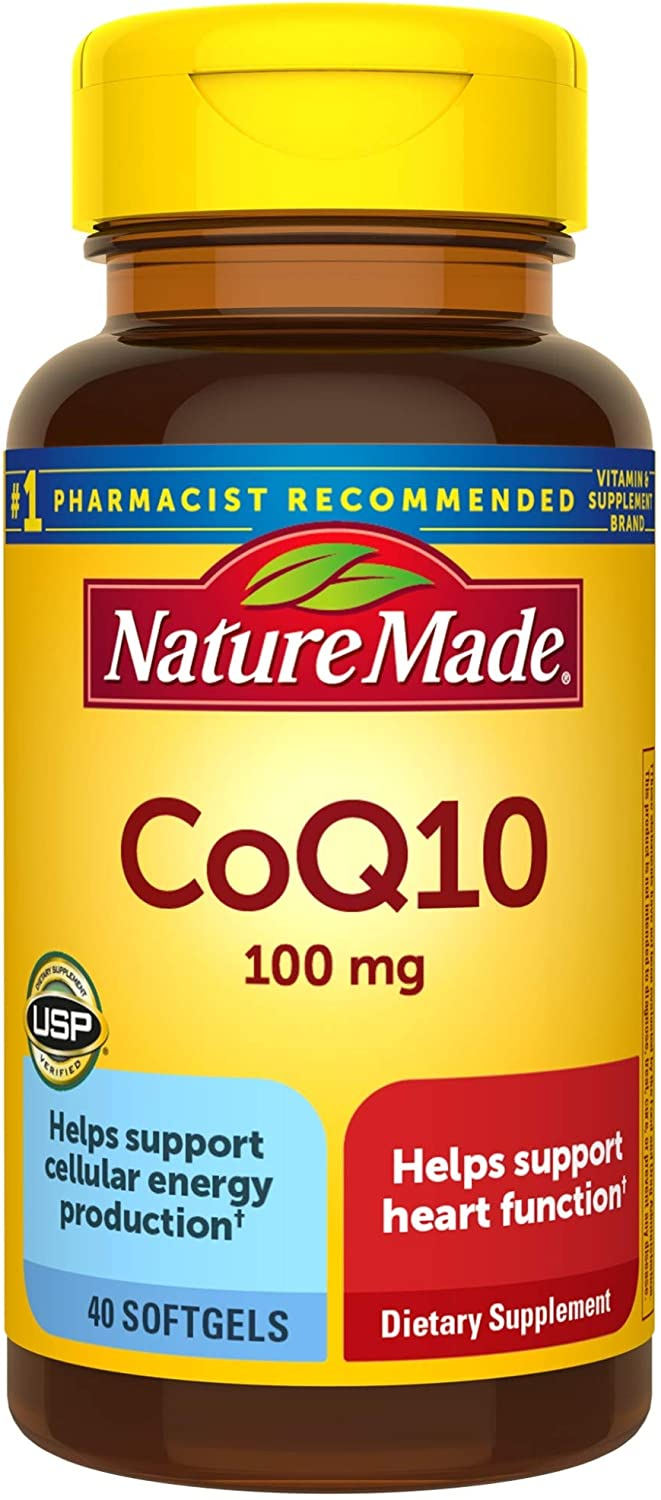 Nature Made CoQ10 100 mg Softgels, 40 Count for Heart Health† (Packaging May Vary)