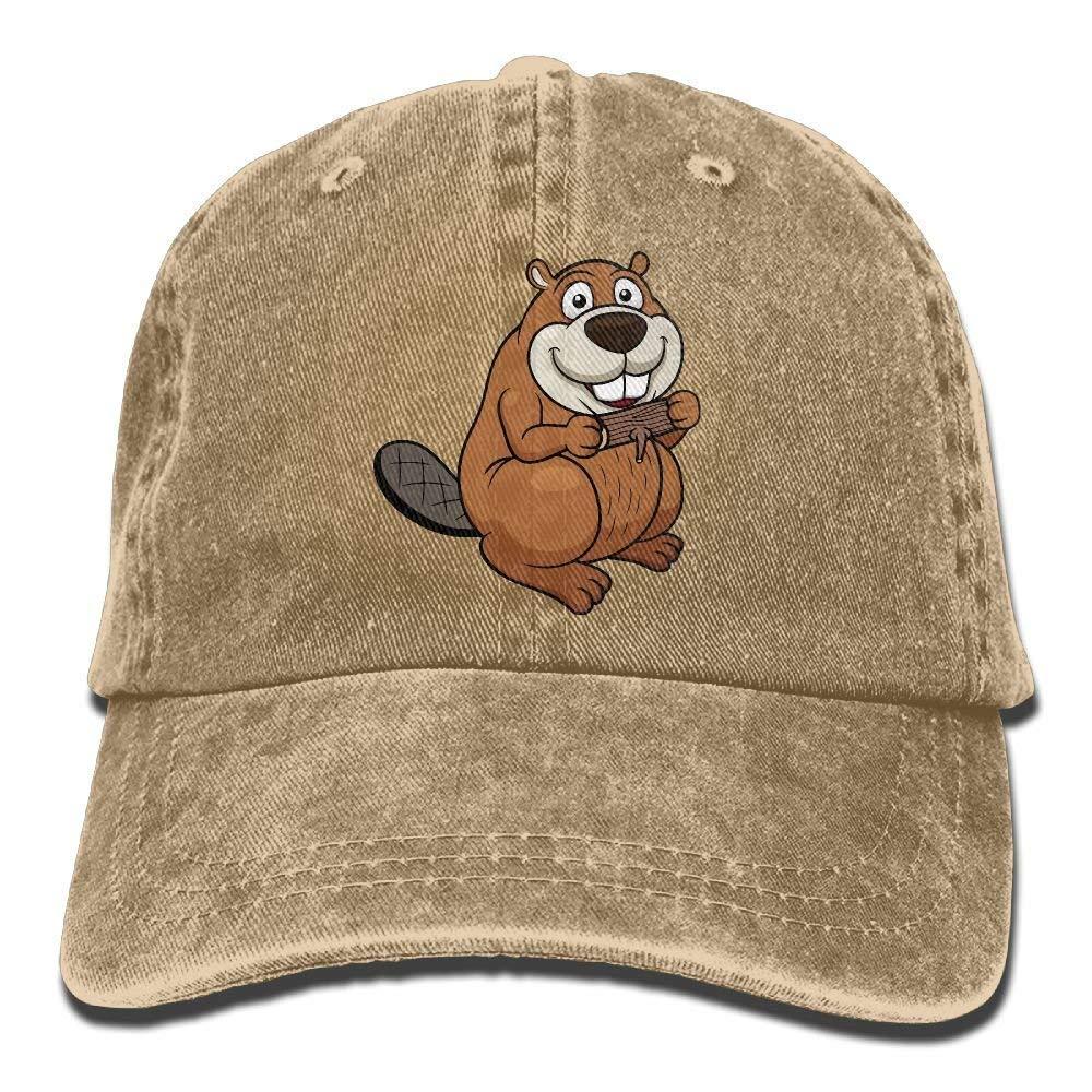 Cartoon Beaver with Wood Unisex Adjustable Baseball Caps Denim Hats Cowboy Sport Outdoor JTRVW Cowboy Hats