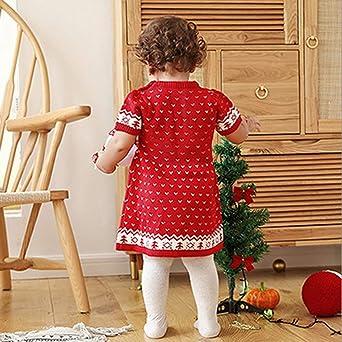 FeiliandaJJ M/ädchen Jungen Weihnachten Pullover Hirsch Drucken Rollkragenpullover Winter Warm Strickpullover Pullis Sweater