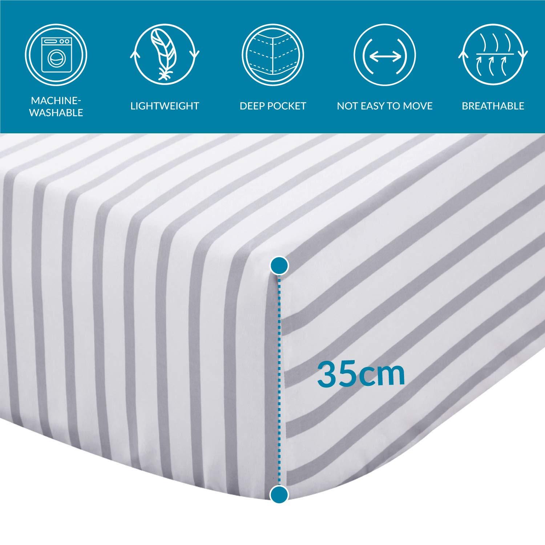 Bedsure S/ábanas Bajera 90x190 cm Ajustable Cama 90 Muy Suave Microfibra con patr/ón de cuadrifolio