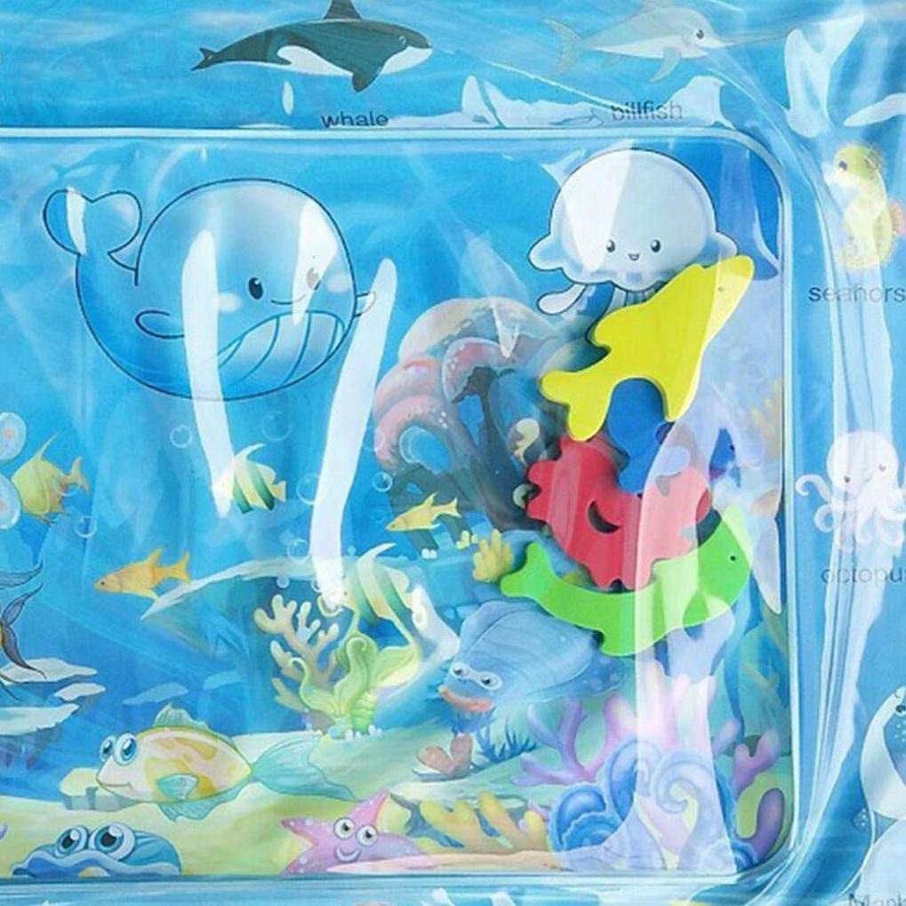a Prueba de Fugas de PVC Llena de Agua la Actividad del beb/é Centro Tapete de Juego Juguetes para el Beb/é Reci/én Nacido y la GuDoQi Alfombra Inflable con Agua
