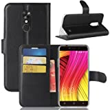 Frlife Pu Leather Flip case for Blackview A10, Slim Series Flip Wallet Case with Card Slots Shockproof Resistant Hybrid Protective Case Built In TPU Silicone Back Case Cover For Blackview A10 Black