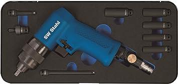 Sw Stahl S3224 Druckluft Schlagschrauber Set I 1 4 Zoll I 9 Teilig I Speziell Für Glühkerzen I Druckluftschrauber Für Reifenwechsel Auto