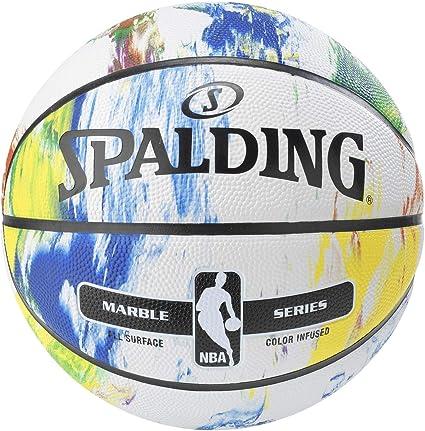Amazon.com: Spalding mármol baloncesto de goma – tamaño y ...