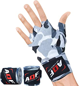 AQF Vendas Boxeo con 4 Metros Eslora Vendas Elasticas para Deportes De Combate, Boxeo, MMA (Artes Marciales Mixtas) Y Cross Fitness: Amazon.es: Deportes y aire libre