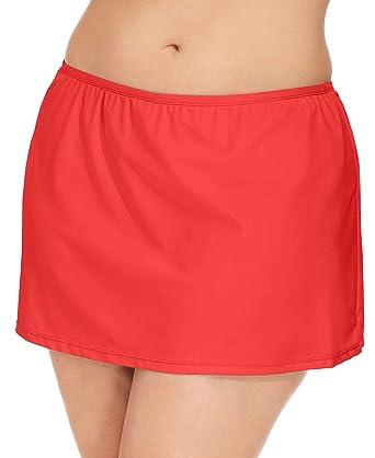 d19d39c3011c4 Amazon.com: Island Escape Women's Plus Size Solid Swim Skirt (18W ...