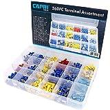 Capri Tools 10025 Capri Tools - Juego surtido de terminales eléctricos, 360 piezas