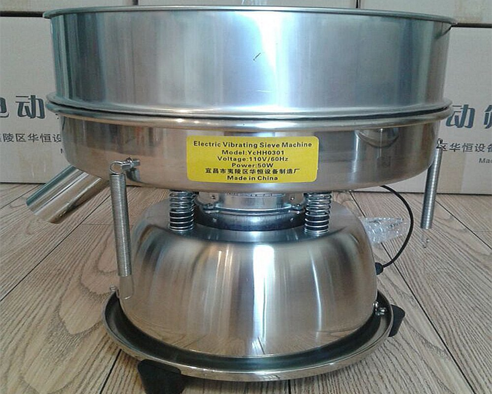 Electric Chinese Medicine Sieve Stainless Steel Powder Vibrating Sieve Machine (110V USA plug)