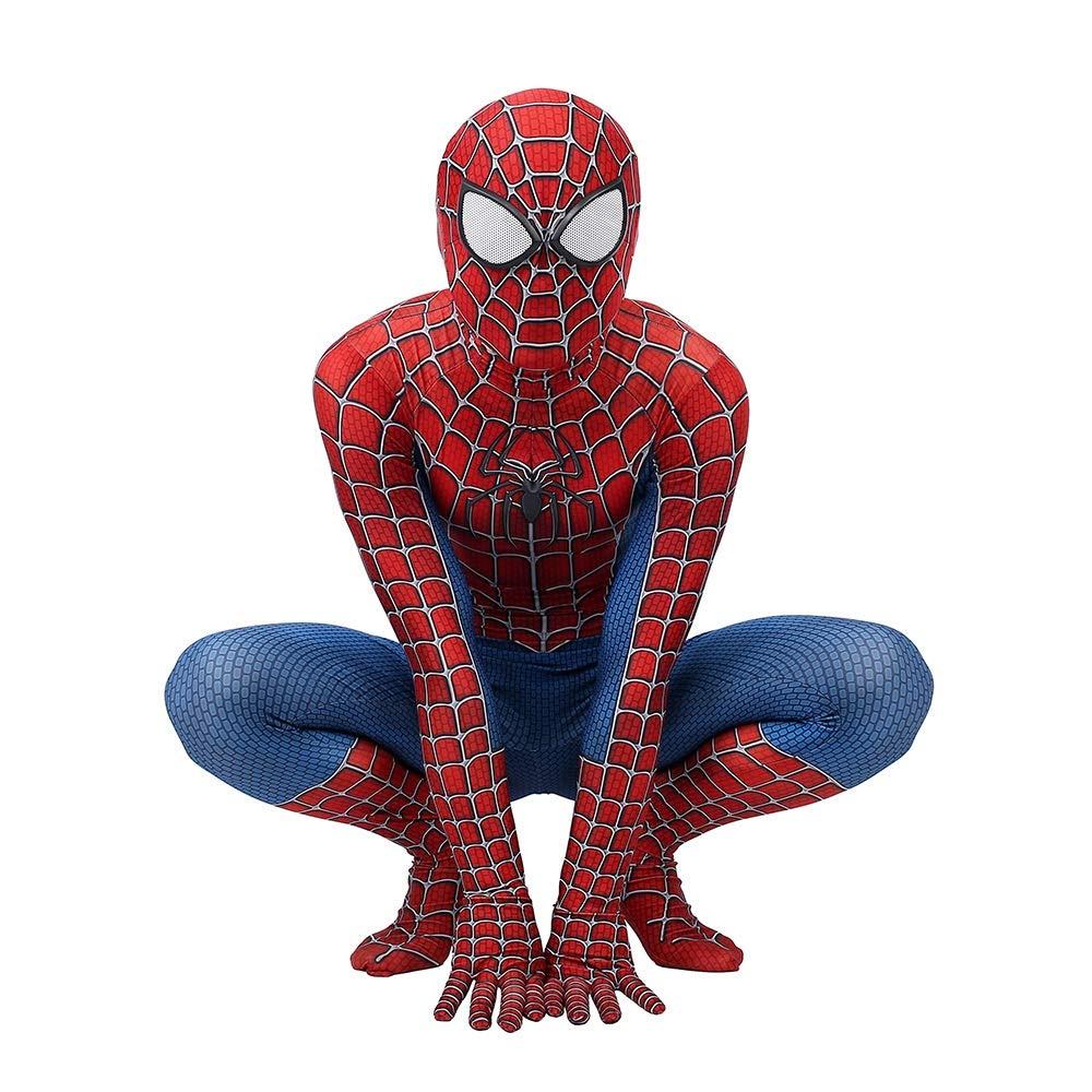 TOYSGAMES Costume Cosplay di Costume di Halloween Costume di Halloween Rompicapo di Spider-Man ( Colore   Rosso , Dimensione   M )