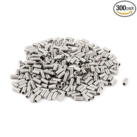 uxcell M3x6mm Stainless Steel Hex Socket Set Cap Point Grub Screws 50pcs