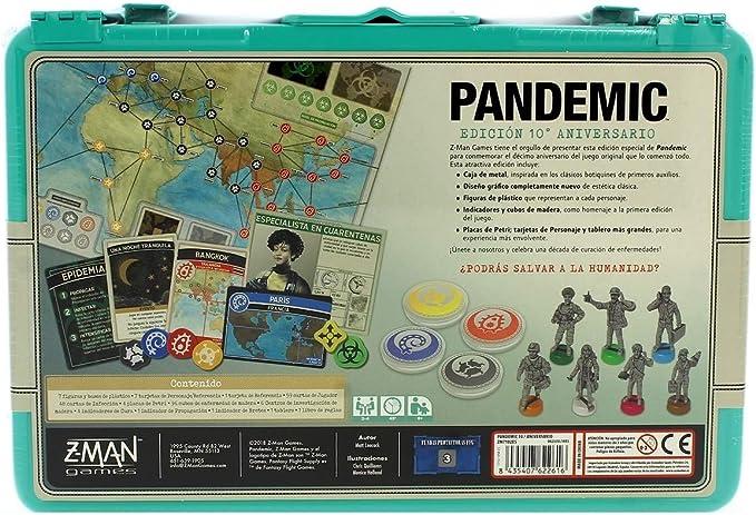 Z-man Games España - Juego Pandemic (10º Aniversario) Azul: Amazon ...