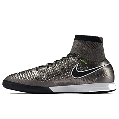 Nike Magistax Proximo IC, Chaussures de Football Homme, Gris/Noir/Blanc (