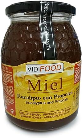 Miel de Eucalipto con Propóleo - 1kg - Producida en España ...