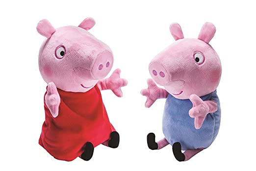 Super Soft Kid's fav Cute Pig Plush Soft Toy Action Figure Gifts,Peppa Pig and George Pig Plush ,2 PCS Peppa Pig Plush Toys 12 '' Peppa Pig Doll Soft Plush Toys George & Peppa Pig Toy 30 cm