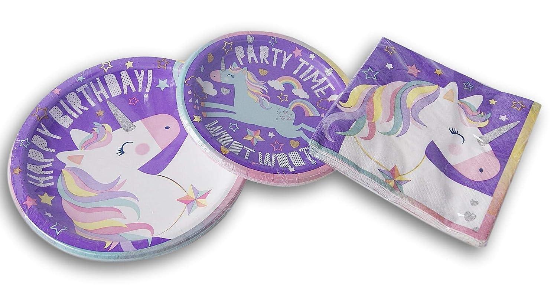 Amazon.com: Juego de cumpleaños con temática de unicornio ...