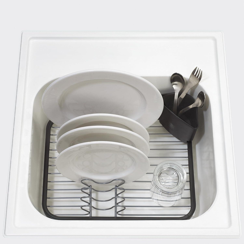 Kitchen Dish Rack Amazoncom Umbra Sinkin In Sink Dish Rack Smoke Sink Dish Drainer