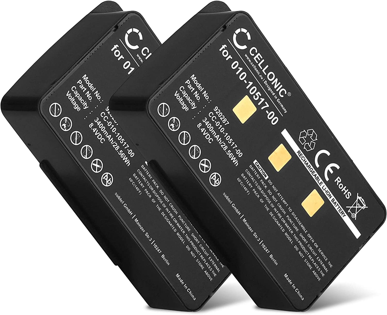 Batterie 3400mAh type 010-10517-01 011-00955-00 Pour Garmin GPSMAP 495