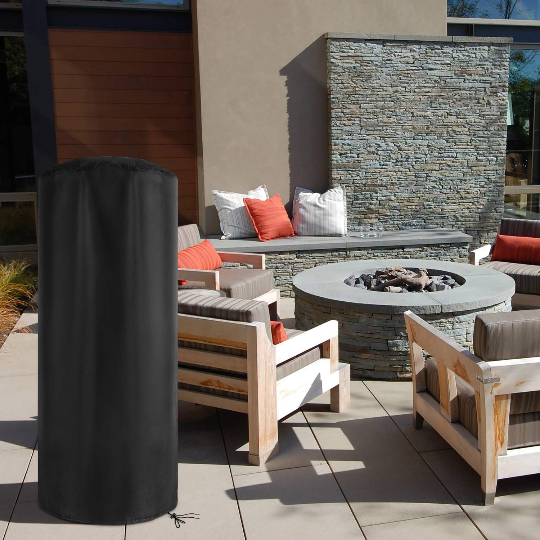 /Negro / redondo 50/x 50/x 120/cm dokon meteorol/ógica Carcasa para terraza calefactor impermeable transpirable Oxford Estufa protectora
