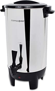 Coffee Pro CP30 30 Cup Urn W Filter Basket 10