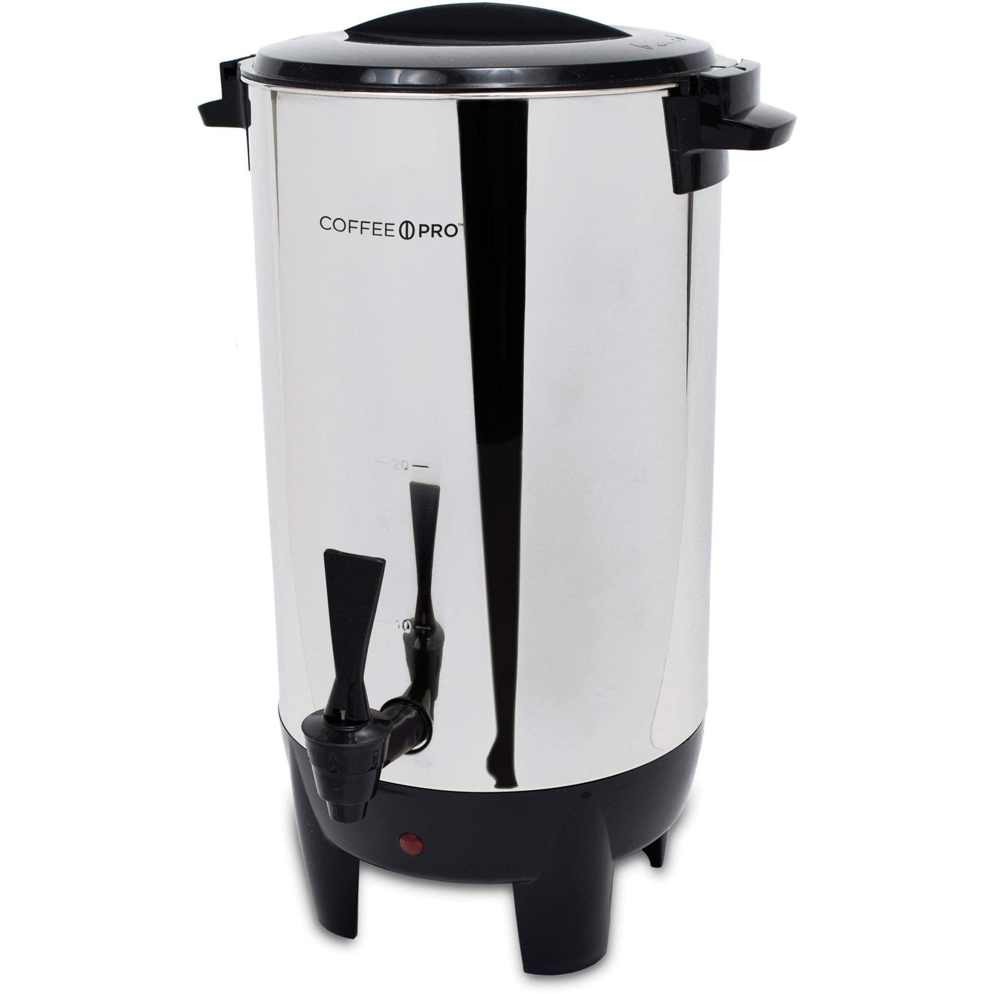Coffee Pro CP30 30 Cup Urn, w/Filter Basket, 10''x10''x15'', 3 Prong, STST