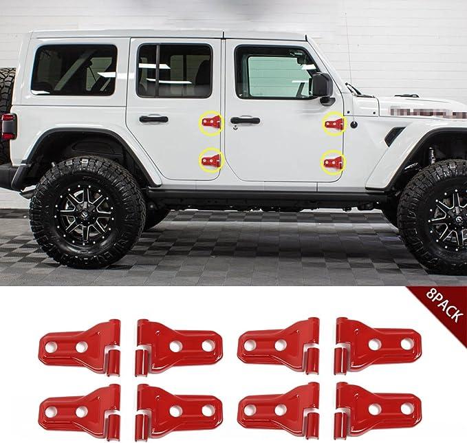 6x DoorHinge /&Hood Hinge Cover Trim For Jeep Wrangler JL 2018-2020 2-Door Red