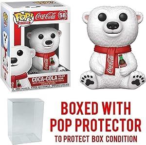 Pop Ad Icons: Coca Cola Polar Bear Pop Vinyl Figure (Includes Compatible Pop Box Protector Case)
