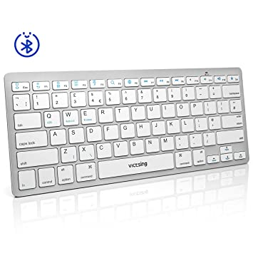 64e0abc97c2 Bluetooth Keyboard Ultra-Slim & Portable VicTsing Ergonomic Lightweight Wireless  Keyboard Quick and Simple Connect
