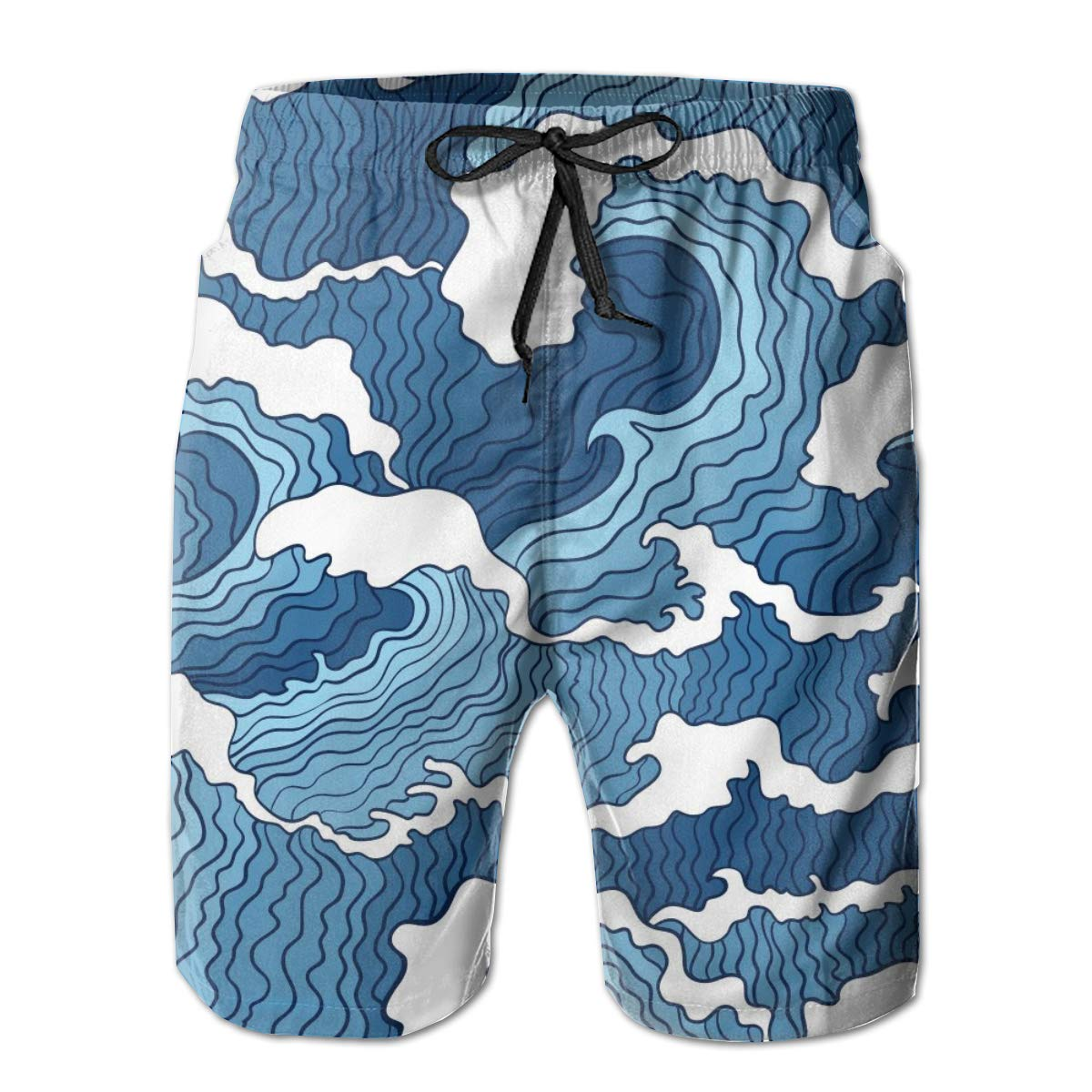 Mens 3D Printed Swim Trunks Quick Dry Summer Surf Board Shorts Swimwear Pants