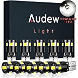 Audew 10 x T10 W5W LED CANBUS Auto Targa Lampade 9 x 2835SMD LED 12V 4882K Cuneo Tipo Lampadine Per Luce di Indicatore Laterale Replacement(Bianco)
