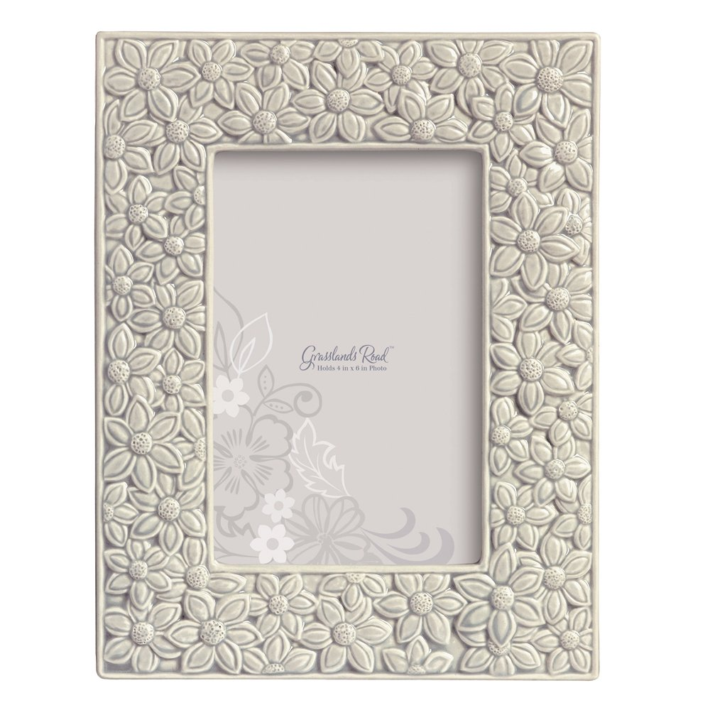 Grasslands Road Everyday Life Photo Frame, Grey Floral, 4 by 6-Inch by Grasslands Road